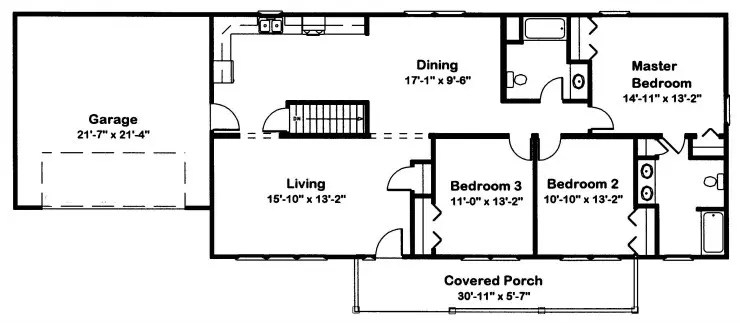 Crestwood 5 Modular Home Floor Plan