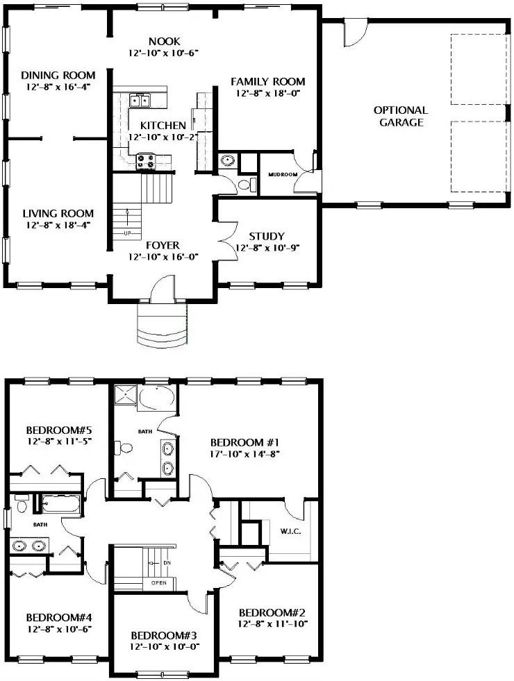 Middleburg Modular Home Floor Plan