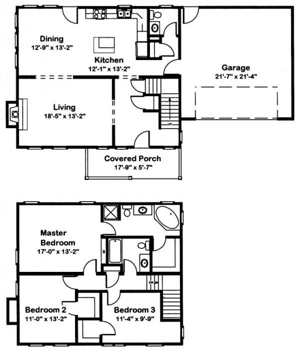 Walden 4 Modular Home Floor Plan