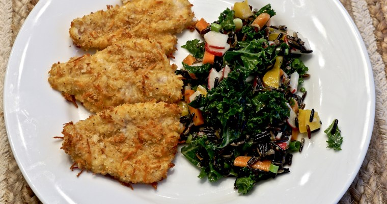 Parmesan Crusted Baked Perch