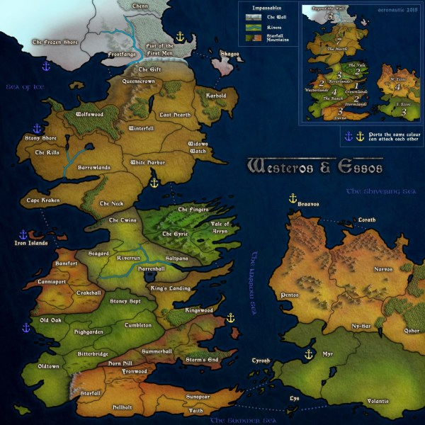Playful Game Of Thrones Maps Westeros And Essos - imgUrl