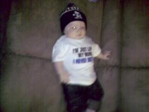 That's one gangsta baby!