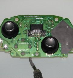 microsoft xbox controller s akebono rev c circuit board pcb top  [ 1600 x 1200 Pixel ]