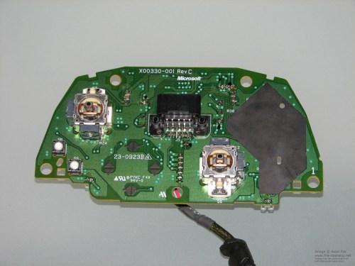 small resolution of  circuit board pcb top microsoft xbox controller s akebono rev c pcb board top