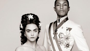 cara-delevingne-and-pharrell-williams-in-new-chanel-short