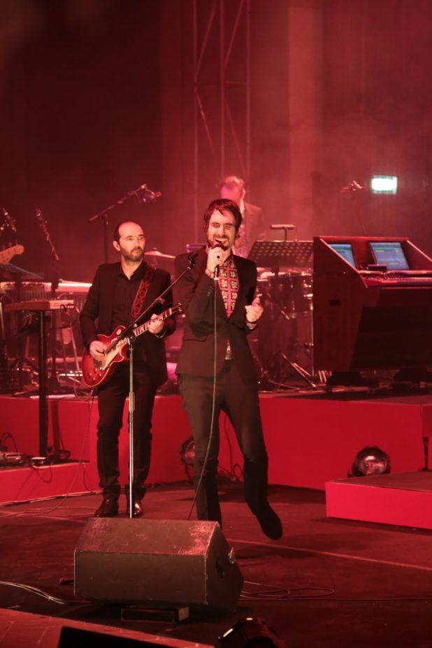 Un momento del concerto dei Baustelle a Foligno