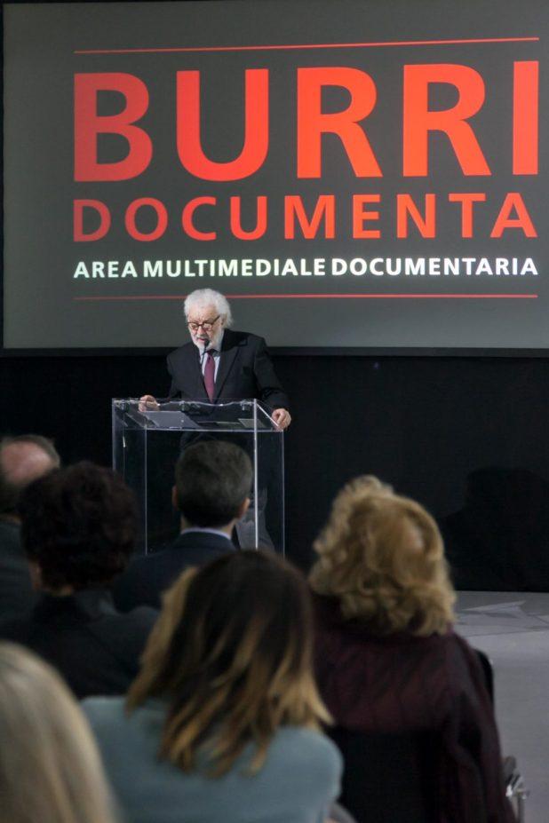 Bruno Corà discorso inaugurale Burri Documenta