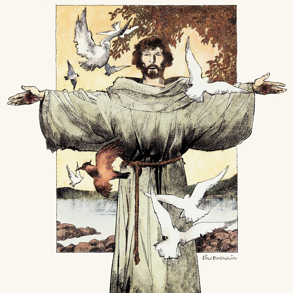 San Francesco disegnato da Dino Battaglia