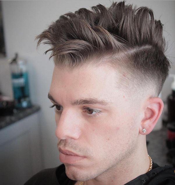 high fade separated choppy hair