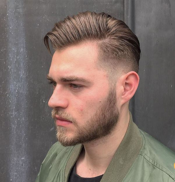 medium length skin fade and beard