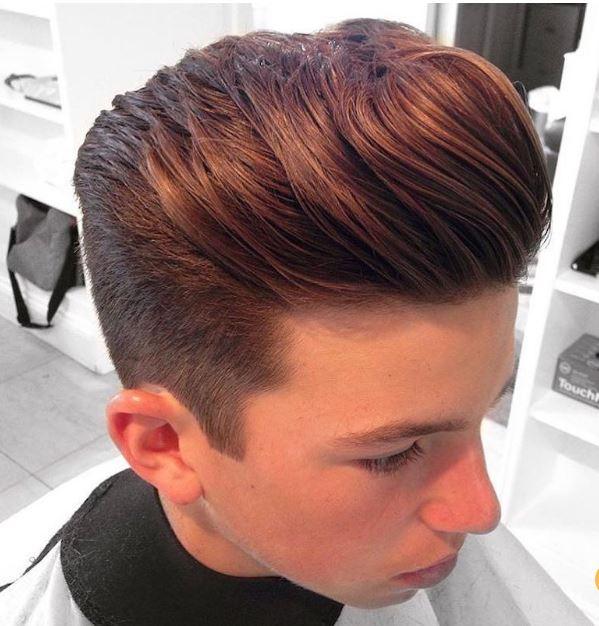 short sides natural hair top