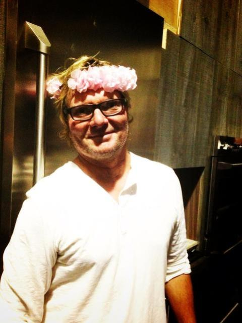 Bryan Fuller in a floral crown