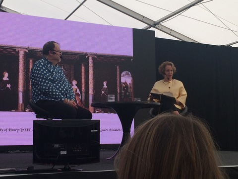 Philippa Gregory reading from The Taming of the Queen at the Radio Times Festival
