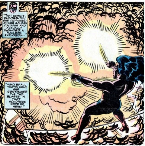 The Lasso of Truth stops an atomic bomb in Volume 1 #214