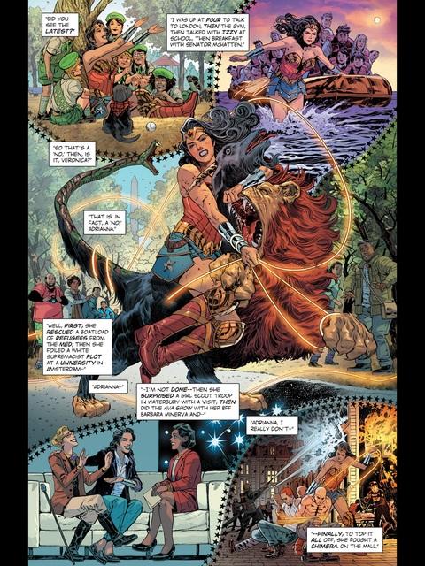 Wonder Woman's morning activities