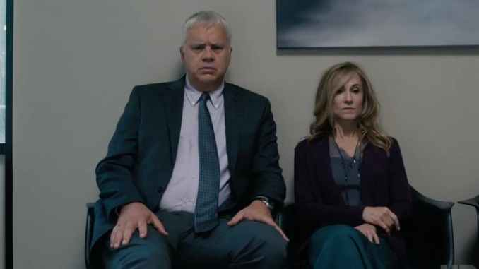 Tim Robbins and Holly Hunter in Here and Now