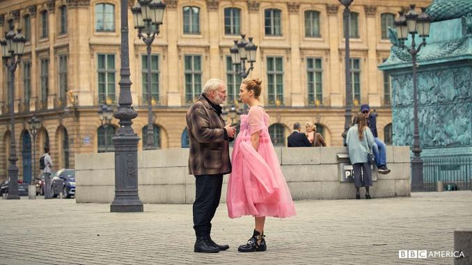 Kim Bodnia and Jodie Comer in Killing Eve