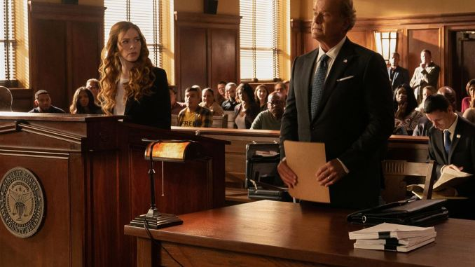 Rachelle Lefevre and Kelsey Grammer in Proven Innocent