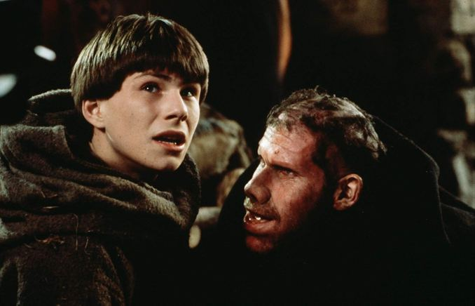 Christian Slater and Ron Perlman in The Name of the Rose