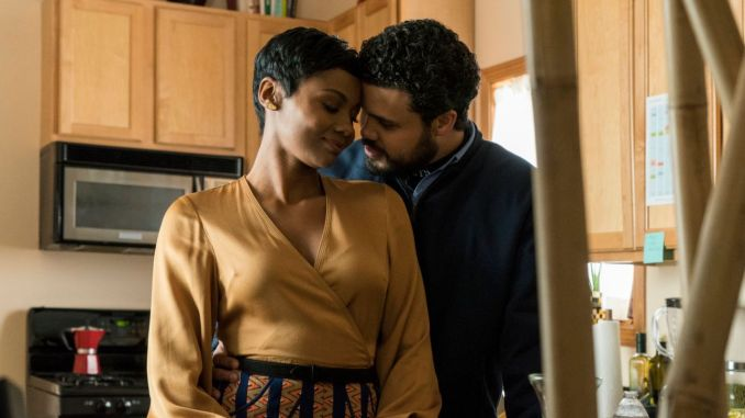 Emayatzy Corinealdi and Howard Charles in CBS (US)'s The Red Line