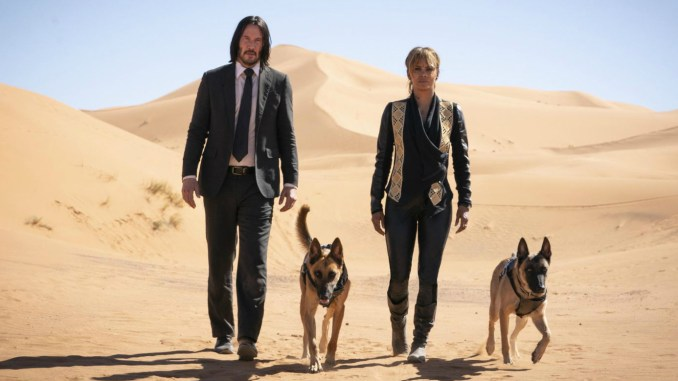 Halle Berry and Keanu Reeves in John Wick 3