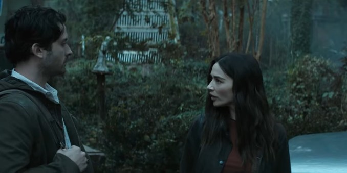 Crystal Reed and Andy Bean in Swamp Thing