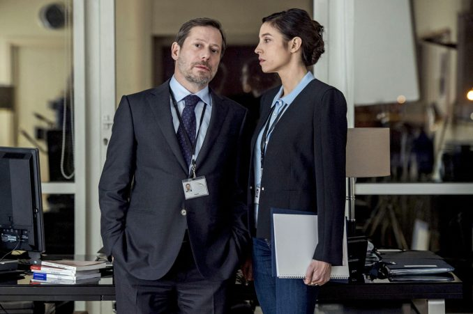 Mathieu Amalric and Anne Azoulay in The Bureau
