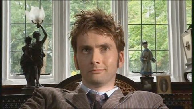 David Tennant in the Doctor Who episode The Unicorn and the Wasp