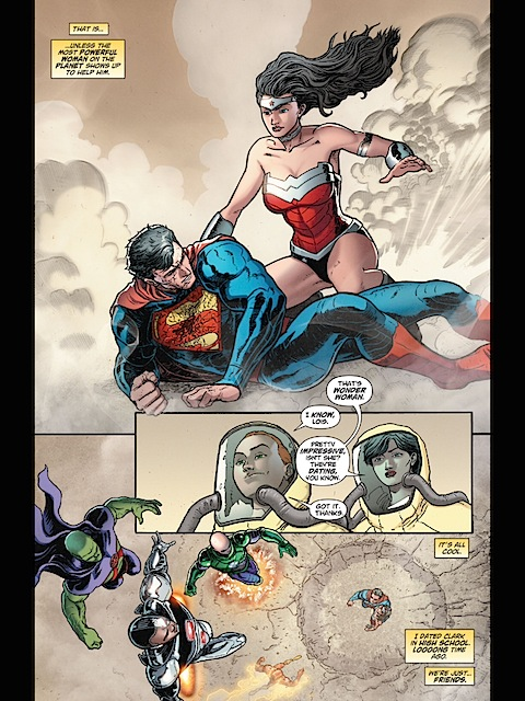 Wonder Woman shows up to help Superman