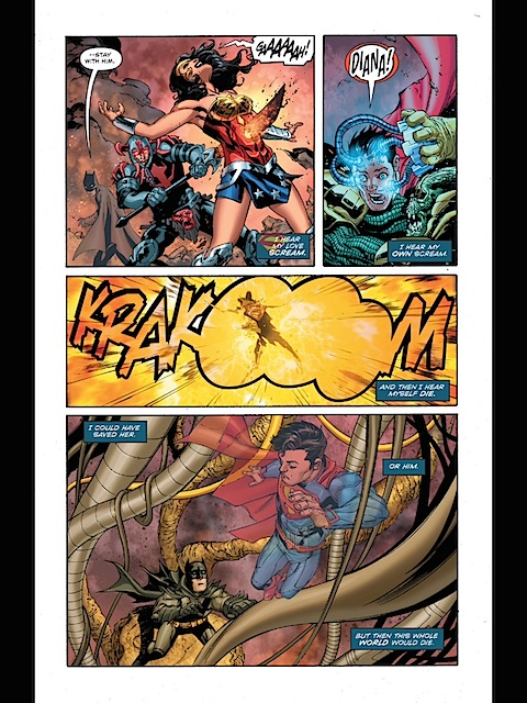 Superman sees Wonder Woman die