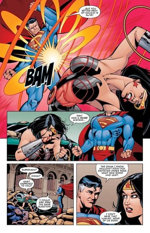Superman arrives