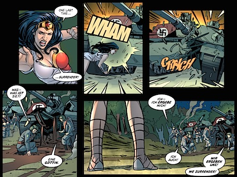 Wonder Woman defeats the Nazis
