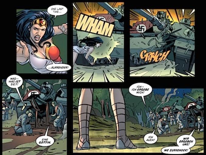 Wonder Woman defeats the Nazis