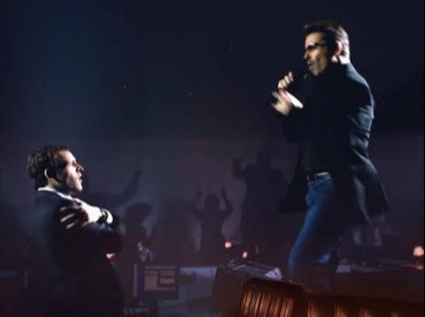 Jonny Lee Miller and George Michael in Eli Stone