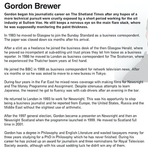 Gordon Brewer's CV