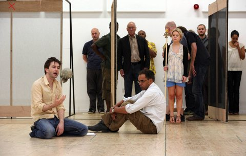 David Tennant rehearsing Hamlet