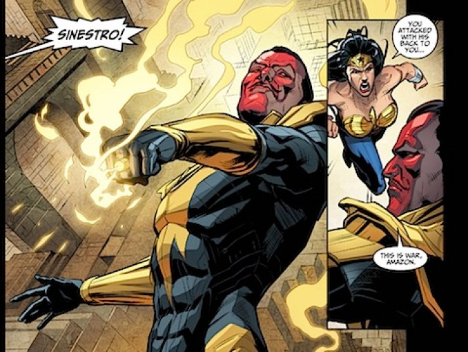 Wonder Woman is angry with Sinestro