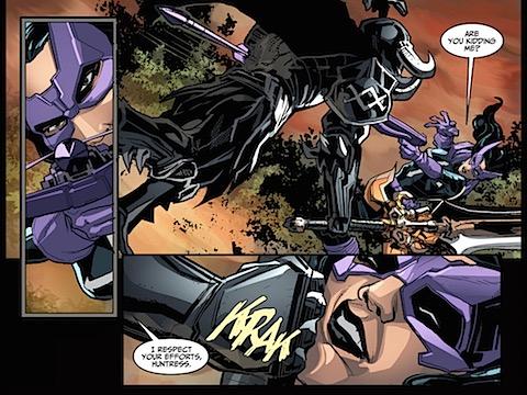 Ares defeats Huntress