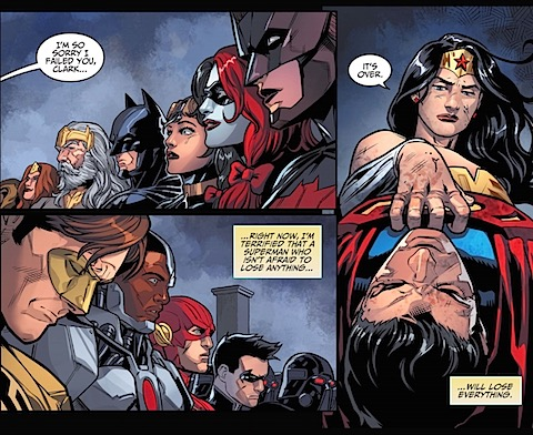 Diana punches Clark