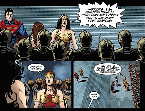 Wonder Woman orders the Amazons