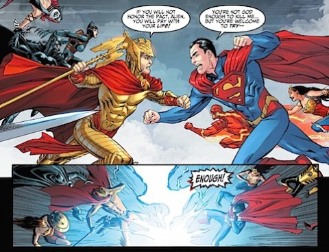 Hermes and Superman fight more