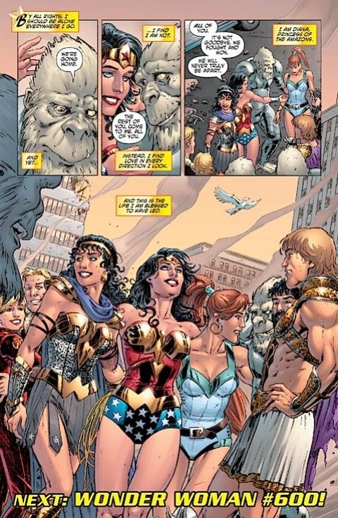 Gail Simone's final page of Wonder Woman