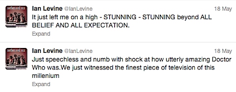 Ian Levine tweets about Doctor Who