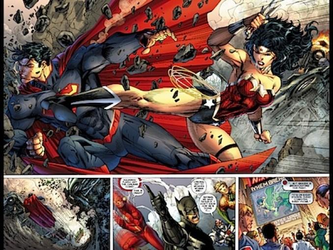 Wonder Woman kicks Superman's ass