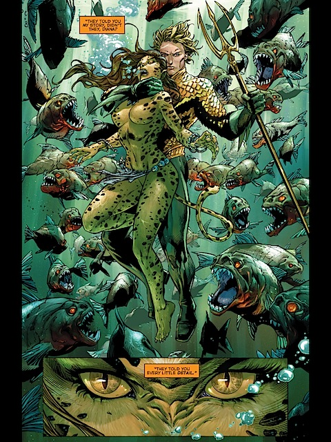 Aquaman disposes of the Cheetah
