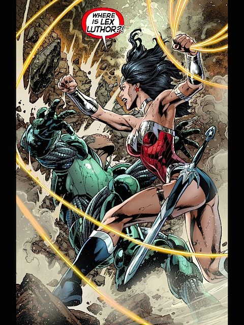 Wonder Woman versus Metallo