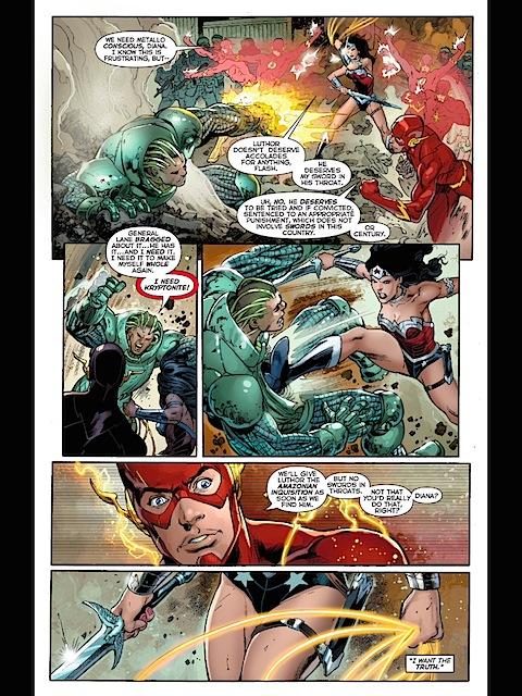 Wonder Woman beats up Metallo some more