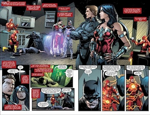 The Justice League goes CSI