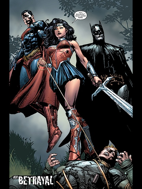 The JLA meet the android trinity