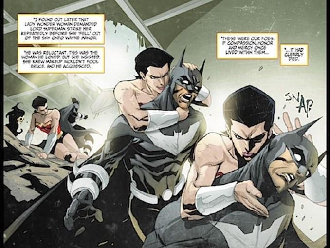 Lady Wonder Woman kills Lord Batman